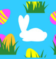 easter seamless pattern background retro vintage vector image