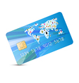 Blue Credit Card Isolated on White Backgroun vector image vector image