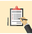 Clipboard with a check list vector image