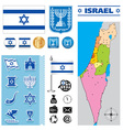 Israel map vector image vector image