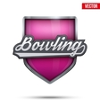 Premium symbol of Bowling label vector image