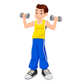 Boy With Dumbbells vector image