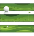 Abstract golf background vector image