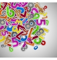 Background with colorful numbers vector image vector image