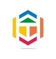 arrow symbol letter t icon element vector image