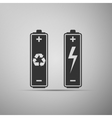 Battery with recycle-renewable energy concept icon vector image