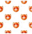 flat cartoon fox in love seamless pattern vector image