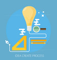 idea creating process concept flat vector image