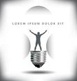 Light Bulb Man vector image