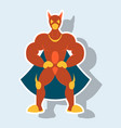 man superhero superhero standing icon in vector image