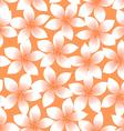 Orange tropical Plumeria and Hibiscus floral vector image