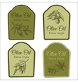 Set of labels for olive oil vector image