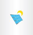 solar panel sun energy icon vector image