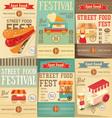 Street food festival vector image