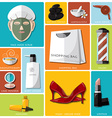 Woman Beauty And Lifestyle Flat Icon Set vector image