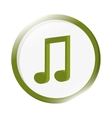 quaver musical note icon vector image