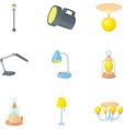 Lamp icons set cartoon style vector image