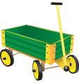 Green Toy Wagon vector image