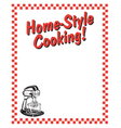 Home style cooking frame vector image vector image