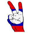 Peace Sign of the Laotian flag vector image vector image