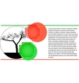 environmental tree vector image