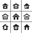 Home real estate icons set vector image