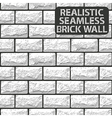 Realistic seamless texture of white brick wall vector image