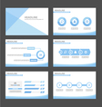Blue presentation infographic templates set vector image
