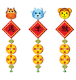 chinese zodiac decoration vector image