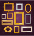 frames blank picture framing in vintage set vector image