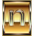 Ingot Font Letter n vector image