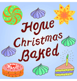 Merry Christmas feature Home Christmas Baked desig vector image