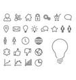 modern thin line icon set vector image