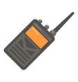 portable radio icon flat style vector image