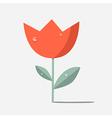 Retro Red Flower Tulip vector image
