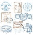 Set of Retro SEA stamps vector image