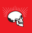 skull side view with halo line graphic effect vector image