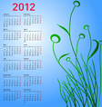 stylish calendar vector image