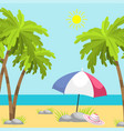 summer time beach sea shore realistic background vector image