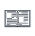 text book open isolated icon design vector image