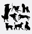 Dog pet animal silhouette 6 vector image