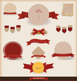 Set of vintage and retro design elements vector image vector image