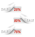 Set of white sample sale stickers vector image vector image