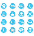 Set of services Icons on blue label vector image