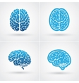 Four brain icons vector image