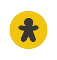 Gingerbread man silhouette vector image