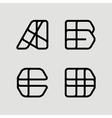 A B C D Template for Logo monogram emblem vector image