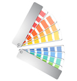Color palette guide isolated on white vector image