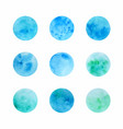 hand drawn watercolor circle textures vector image