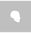 head computer symbol vector image